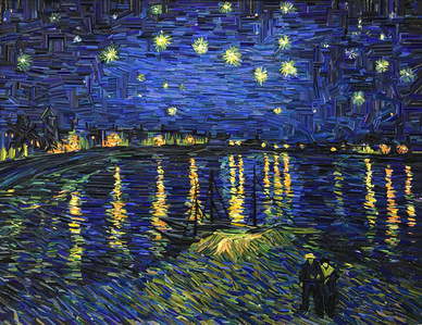 Monument - Starry Night Over the Rhône