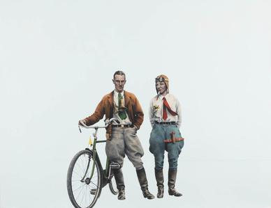 Aeroplane Girl Bicycle Boy