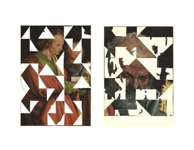 Estudio para permutaciones - postal retratos (díptico)