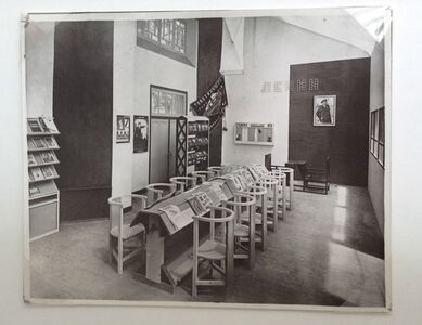 Worker's club installation at the 1925 Decorative Arts exhibition in Paris