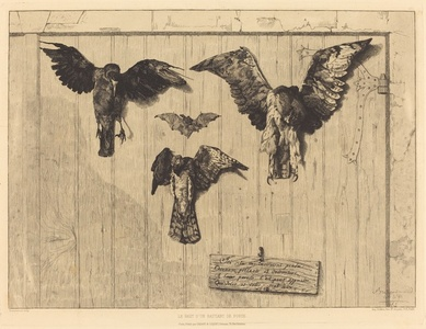 Le Haut d'un battant de porte (Birds Nailed to a Barn Door)