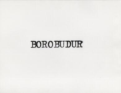 Ginzburg à Borobudur, Indonésie
