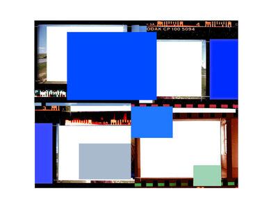 Folio au carré bleu (d'après Réflexion intérieure)