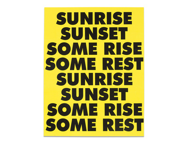 SUNRISE SUNSET SOME RISE SOME REST Limited Edition Poster