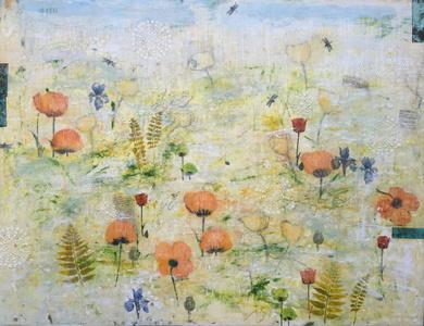Haiku Garden with Poppies