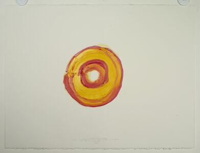 """2011.12.8 d'après """"La rétine de l'artiste. Illusion d'optique créée par la maladie oculaire"""" (1930) de E. Munch (Séchoir à dessin)"""