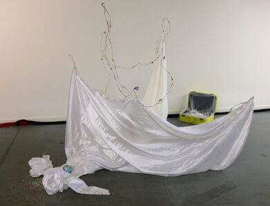 White Hole (installation view, wedding dress)
