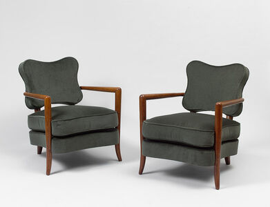 "Pair of ""trefle"" armchairs"