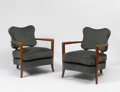 "Pair of ""trefle"" armchairs"