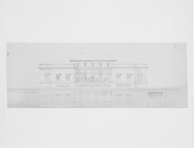 [Design for the main facade of the casino]