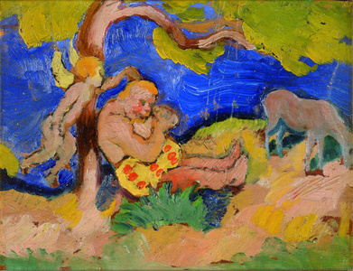 Bacchus under a Tree