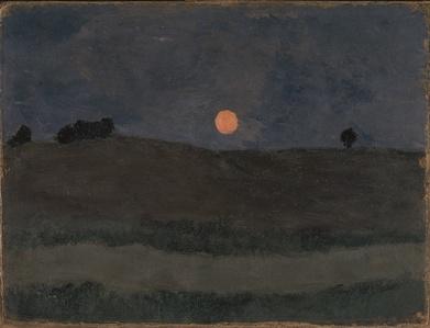 Lune au-dessus d'un Paysage