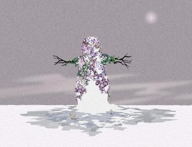 Lavender Snowman