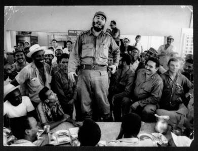 Castro Meets with Factory Workers, Santiago de Cuba