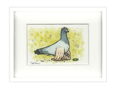 SMALL PIGEON PAINTING