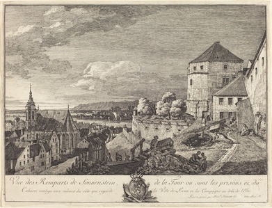 Vue des Remparts de Sonnenstein (View of the Ramparts of Sonnenstein)