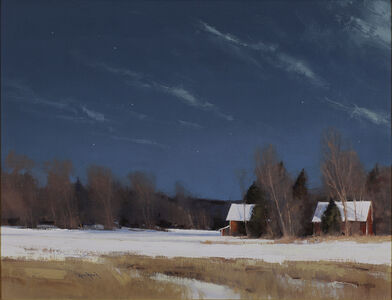 Grant Township Farm by Moonlight