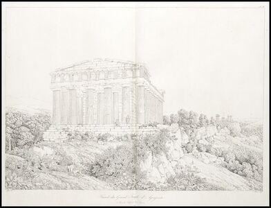 Facade du grand temple d'agrigente