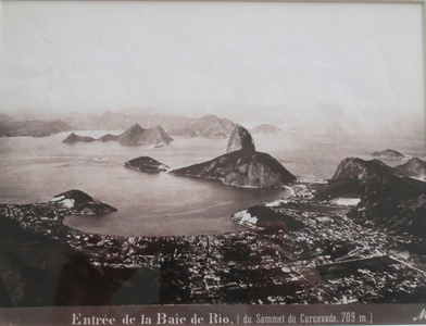 Entrée de la Baie de Rio [du Sommet du Corcovado, 709 m], Rio de Janeiro
