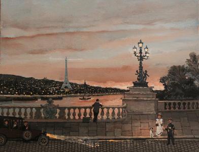 Pont Alexandre III au coucher du soleil