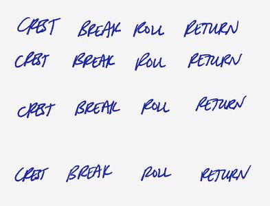 Crest break roll return