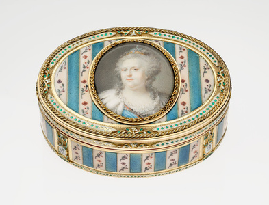 Oval Snuffbox with Miniature of Catherine the Great