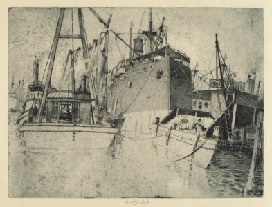 Chelsea Docks, Loading the Ship