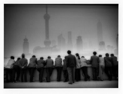 Pudong rises above the Bund, Shanghai, China