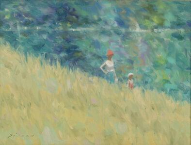 Mother & Child in a Garden