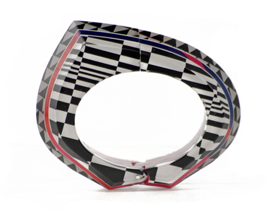 Bridget Riley Beveled Hinge Bracelet