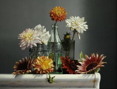 Sunflowers and Dahlias