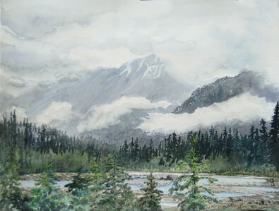 Low Mountains and Clouds