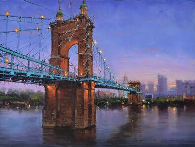 Roebling Bridge at Night