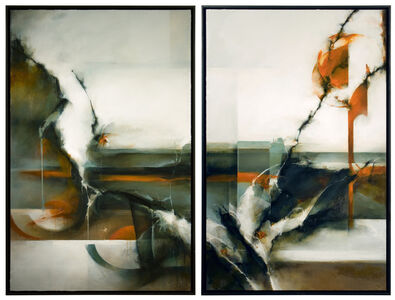 Diptych Painting; 'We Belong to Nowhere'