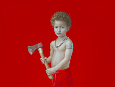 From the Serie PRESENTE PLUSCUAMPERFECTO (Miguel with Axe)