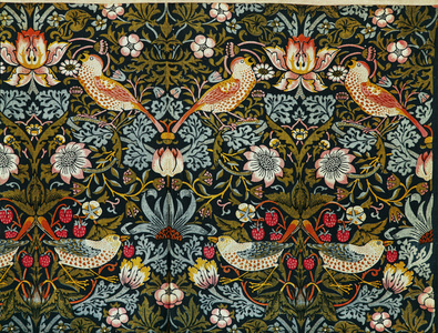 The Strawberry Thief (Flower and Bird Pattern)