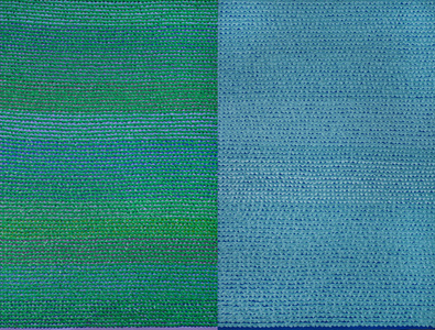Untitled (Green Diptych)