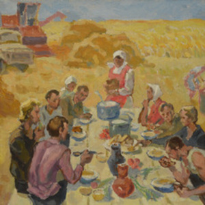 "Sketch ""Lunch at the fields"""