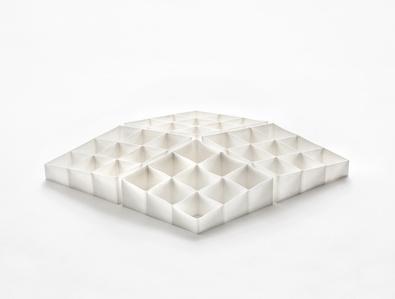 White Lozenge Shapes Set of Four