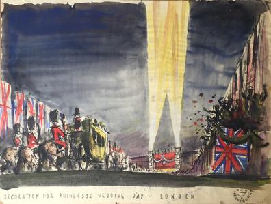 Decoration for Royal Wedding, London