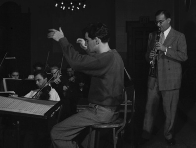 Leonard Bernstein & Benny Goodman at Carnegie Hall, NYC