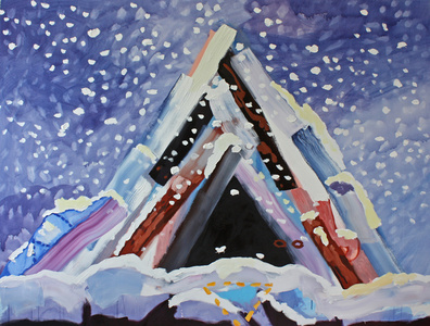 Big Teepee in the Snow (Pretend)