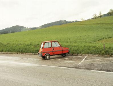 Rotes kleines Auto, Helfenberg-Haslach, 2001