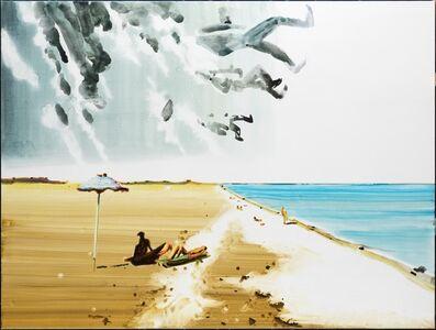 Running away from the beach