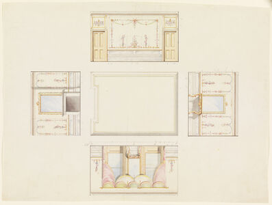 Design for Ceiling and Four Walls of Room