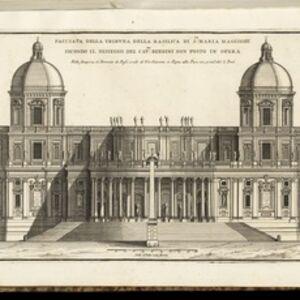 Facciata della tribuna della Basilica di Sta. Maria Maggiore, secondo il dissegno del Cavre. Bernini non posto in opera