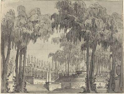 A Palatial Garden with Circular Terraces