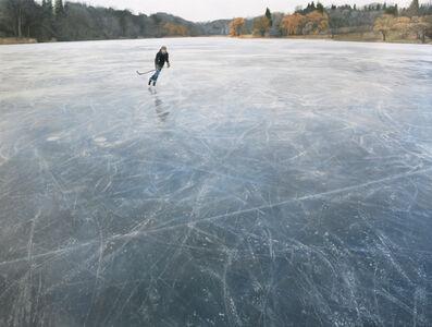Skating on Blue Grey Ice