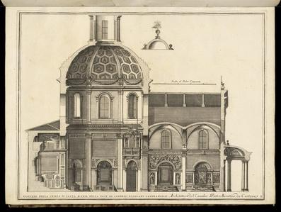 Spaccato della Chiesa di Santa Maria della Pace de Canonici Regolari Lateranensi