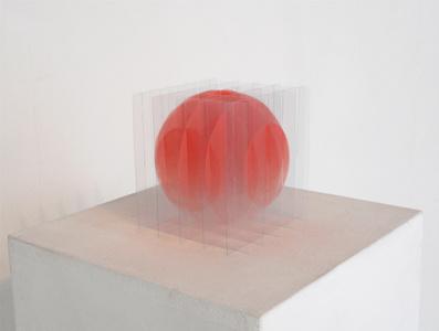sphère rose dégradée